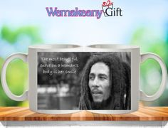 **Bob Marley** Crazy Mug. More fantastic cups & pots, pictures, music and videos of *Robert Nesta Marley* on: https://de.pinterest.com/ReggaeHeart/ http://www.ebay.it/itm/Bob-Marley-Women-Best-Curve-Is-Her-Smile-Quote-Tea-Coffee-Mug-Gift-Present-/131845780824