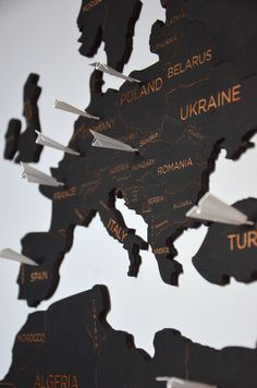 Push Pin Travel World Map:$360 XL Full Pack + 60 pins!!! (That's what I want) Wooden Pin Map of the World Wall Home Art Wanderlust Gift for Traveler Wife Husband Gift Christmas by EnjoyTheWood on Etsy https://www.etsy.com/listing/550714726/push-pin-travel-world-map-wooden-pin-map #travelworldmap