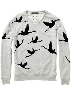 Flamingo Print Sweater |sweat|Woman Clothing at Scotch & Soda