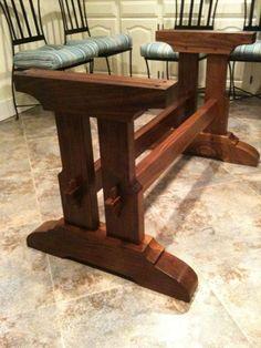 Craftsman Style Trestle Table   Readeru0027s Gallery   Fine Woodworking