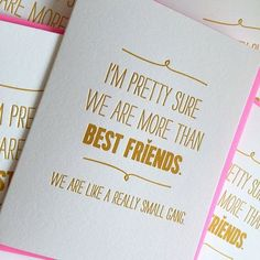 Friendship Card, Birthday Card for Best Friend Gift, We are like a really small gang, Funny Card for Friend *Best Seller Bester Freund-Karte Bester Freund-Geburtstags-Karte [. Best Friend Valentines, Best Friend Birthday Cards, Best Friend Cards, Bestfriend Birthday Ideas, Cute Best Friend Gifts, Card Birthday, Valentines Ideas For Bestfriends, Valentine Cards For Friends, Best Friend Presents