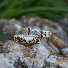 Wedding Ring Tattoos The Antlered Doe Country Wedding Rings, Hunting Wedding Rings, Cheap Wedding Rings, Country Rings, Country Jewelry, Country Promise Rings, Wedding Band, Deer Antler Ring, Deer Antlers
