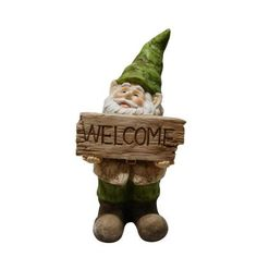 Superieur Alpine Gnome With Welcome Sign Statue GXT500   The Home Depot