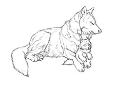 chingy by markedwolf on DeviantArt Animal Sketches, Animal Drawings, Cute Drawings, Drawing Sketches, Wolf Drawings, Wolf Base, Wolf Sketch, Wolf Artwork, Art Story