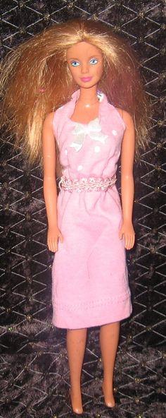 pink and white polka dots - Custom, Handmade Doll clothing