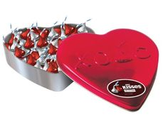 Hershey's Valentine's Kisses, Milk Chocolate, 10 Ounce Heart Tin Valentines Day Post, Valentine Day Cupcakes, Be My Valentine, Valentine Gifts, Heart Shaped Chocolate, Love Chocolate, Bird Cakes, Cupcake Cakes, Valentine's Day Gift Baskets