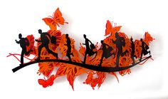 Wall Sculpture by Time Chasers, Metal Wall Decor, Wall Sculptures, Butterfly, Animation, Running, Colors, Flowers, Animals