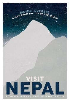 Travel Posters // Nepal - Commissioned artwork. ywammontana.org