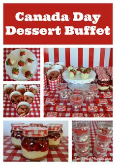 Simple ideas for a red and white dessert buffet. Perfect for a carnival, Canada Day or picnic theme. Carnival Themed Party, Carnival Food, Fun Party Themes, Food Themes, Party Ideas, Food Ideas, Quotes Valentines Day, Valentines Day History, Picnic Desserts