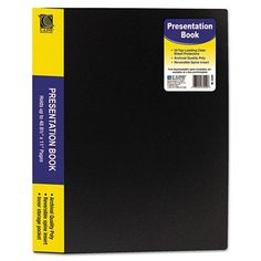 C-LINE PRODUCTS, INC 24 Sleeve Bound Sheet Protector Presentation Book