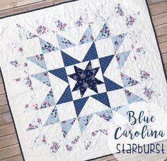 Blue Carolina Starburst Quilt {Free Pattern}
