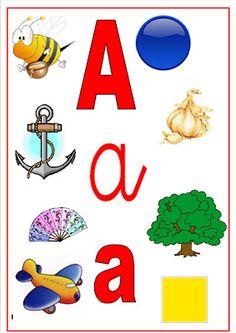 Cositas de Infantil: Repasamos las vocales Alphabet Sounds, Alphabet For Kids, Alphabet Activities, Preschool Worksheets, Activities For Kids, Abc Crafts, Diy And Crafts, Crafts For Kids, Dora