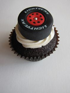 Race Car Tire Cupcake by clevercupcakes, via Flickr