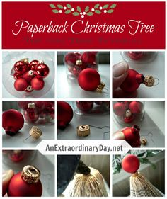 Make a cute Christmas Tree Topper for your Paperback Tree