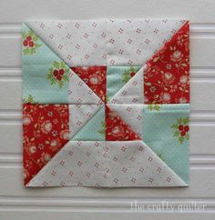 "June's WIP's include this 6"" block from The Patchsmith's Sampler Sew Along. Made by Julie Cefalu"