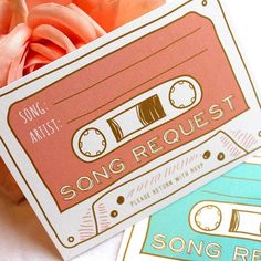 This is definitely a trend in weddings of today and a great way to collate a fab playlist for your wedding day guaranteed to get your guests up on their feet! This was a fun song request card I worked on for the lovely @ashbatey #songrequest #weddingstationery #weddingabroad #weddinginvite
