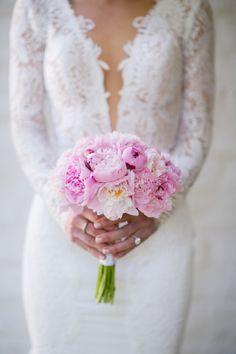 Stunning Berta wedding dress: http://www.stylemepretty.com/california-weddings/palm-springs/2014/09/16/glamourous-palm-springs-wedding-at-the-parker-palm-springs/ | Photography: Mi Belle Photography - http://mibelleinc.com/connect/