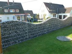 Gabion fences can be almost any height by any length. Description from decorfox.com. I searched for this on bing.com/images