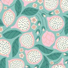 illustration | dragon fruit pattern