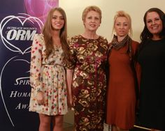 Diana Bunici (ORM Ambassador), President MAry McAlesse & Dr Sucanne O'Connell (Founder ORM) Diana, Awards, Spirit, Dresses With Sleeves, Long Sleeve, Fashion, Gowns With Sleeves, Full Sleeves, La Mode