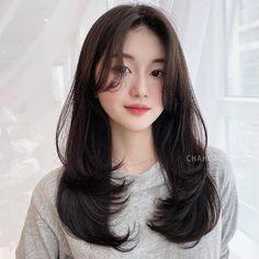 Haircuts Straight Hair, Haircuts For Medium Hair, Medium Hair Cuts, Long Hair Cuts, Medium Hair Styles, Long Layered Haircuts, Curly Hair Styles, Korean Haircut Long, Korean Long Hair