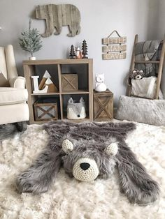 Excited to share this item from my shop: Woodland Nursery Bear Rug - Grey Bear Rug - Regular Size Grey Grizzly - Plush Bear Baby Boy Rooms, Baby Boy Nurseries, Baby Girls, Baby Bedroom, Nursery Bear Rug, Animal Theme Nursery, Grey Nursery Boy, Nursery Décor, Animal Rug