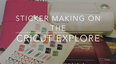 Make Planner Stickers on Cricut Explore Diy Stickers, Planner Stickers, Custom Stickers, How To Make Planner, Cricut Cuttlebug, Planner Pages, Planner Ideas, 2016 Planner, Monthly Planner