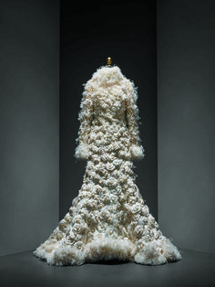 Karl Lagerfeld (French, born Hamburg, 1938) for House of Chanel (French, founded 1913). Wedding ensemble, autumn/winter 2005–6 haute couture. Courtesy of CHANEL Patrimoine Collection | Photo © Nicholas Alan Cope. #ManusxMachina #CostumeInstitute