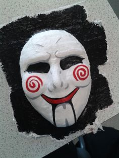 Eek, a pretty scary 'Saw' inspired Modroc mask! You could make it by using our Modroc plaster of Paris Bandage http://www.craftmill.co.uk/modroc-plaster-of-paris-bandage-8-cm-x-30-m - get creative and make your own unique DIY mask for fancy dress or Halloween party. More inspiration at http://www.craftmill.co.uk/