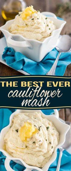 The Best Cauliflower Mash Ever | http://thehealthyfoodie.com #VegetarianDietPlans,