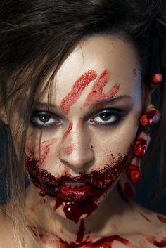 dark art photography horror makeup