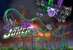 The Joker roller coaster at Six Flags Great Adventure in NJ