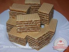 Érdekel a receptje? Hungarian Desserts, Hungarian Cake, Hungarian Recipes, Hungarian Food, Cream Cheese Flan, Condensed Milk Cake, Cookie Recipes, Snack Recipes, Waffle Cake