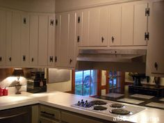 A Favorite Feature---A Back Splash Alternative in My Knotty Pine Kitchen