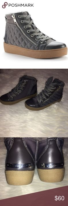 Brand new Juicy Couture gray sneakers New sneakers, never wore, a little to big for me. Juicy Couture Shoes Sneakers