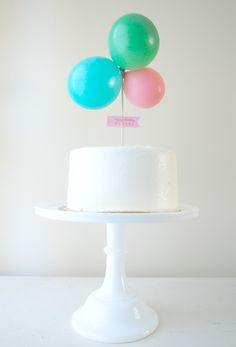 balloon cake topper,