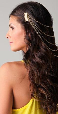 Belle Noel  Enamel Hair Chain