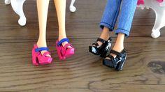 Como Fazer Sandália de Salto para Barbie e Outras Bonecas #sapatinhos mo...