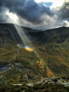 Ogwen valley from  the slopes of Pen Yr Ole Wen  Mufasa came....  Mountains are amazing.  Photo by Steve Hickman