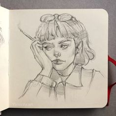 Girl Drawing Sketches, Illustration Art Drawing, Sketchbook Drawings, Art Drawings Sketches Simple, Dark Art Drawings, Pencil Art Drawings, Academic Drawing, Basic Drawing, Hippie Art