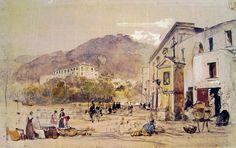 giacinto gigante -Mercato a Quisisiana, cm. 50 x 67, Museo di San Martino, Napoli
