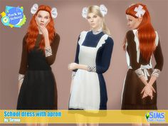 Emma's Simposium: TS4 Request #84 - School Dress with Apron by Siren...