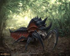 Insect type monster, sungjin kim on ArtStation at https://www.artstation.com/artwork/5d5vE