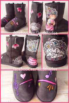 Botas UGG pintadas a mano handpainted shoes