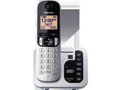 PANASONIC KX-TGC220S DECT 6.0 Expandable Cordless Phone, Answering, CID, CWCID #Panasonic