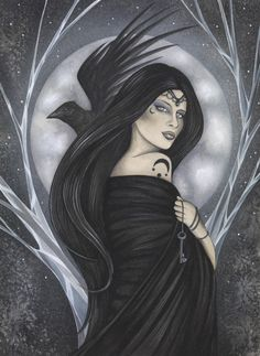 Night Queen by Jessica Galbreth - Fantasy art galleries at Epilogue.net - Fantasy and Sci-fi at their best