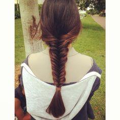 My fishtail braid🐠 Fishtail, Tassel Necklace, Braids, Hairstyles, Beauty, Fashion, Fish Tail, Bang Braids, Haircuts