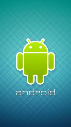 Android Robot Logo Center Wallpaper for Mobile 720x1280