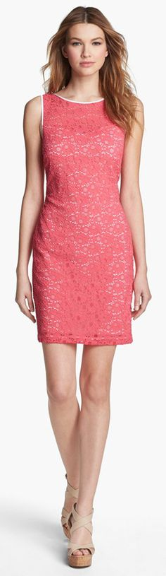 Marc New York Sleeveless Lace Sheath Dress