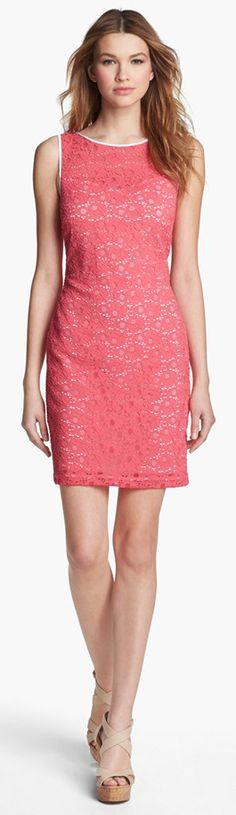 Marc New York Sleeveless Lace Sheath Dress